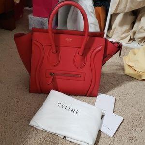 Celine micro luggage bag.